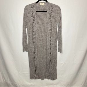 Everly gray long open cardigan